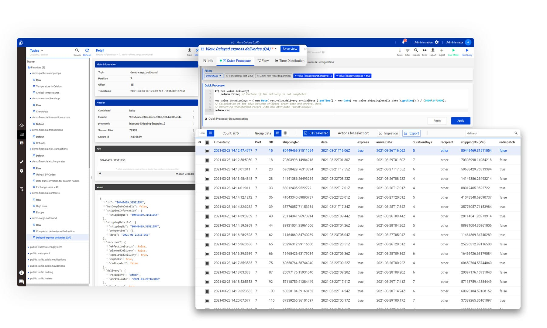 Kafka Web UI & Desktop UI - Browse data and work with together with your team with the Web Version